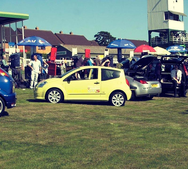 Car event held on the Hereford Racecourse grounds.