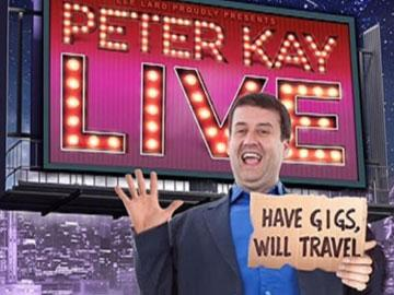 Promotional banner for a Peter Kay tribute act.