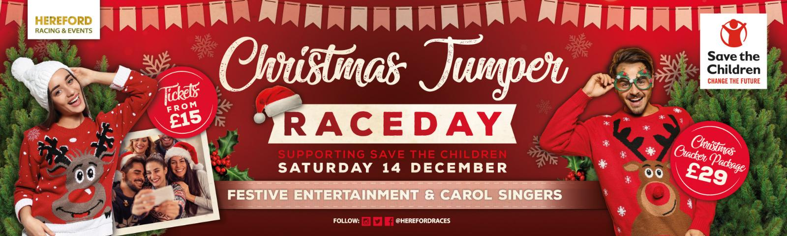 Christmas Jumper Day 2019 Uk.Christmas Jumper Raceday Whats On Hereford Racecourse